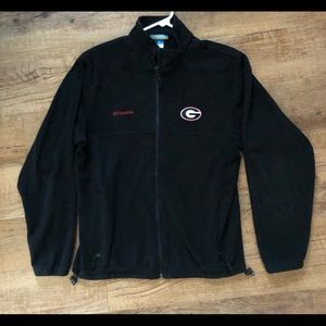 COLUMBIA UGA Black Fleece Jacket, Men's Medium